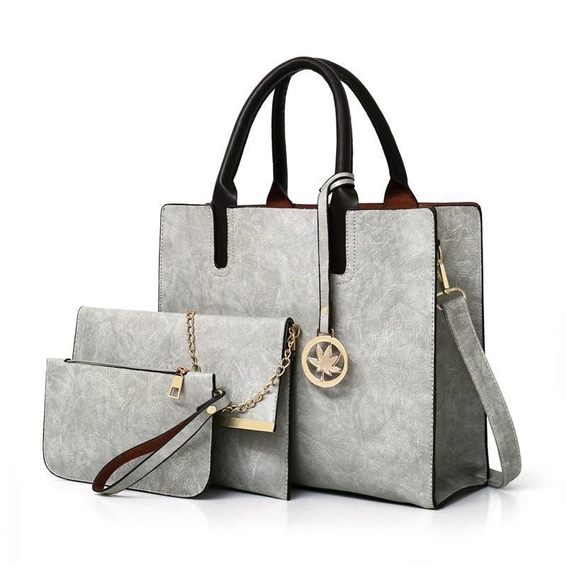 7693faa2aa 2019 Spring Women Shoulder Bags Set Leather Handbag Women Large Tote Bags  Ladies Shoulder Bag Handbag+Messenger Bag+Purse Sac A Main Backpacks  Handbags From ...