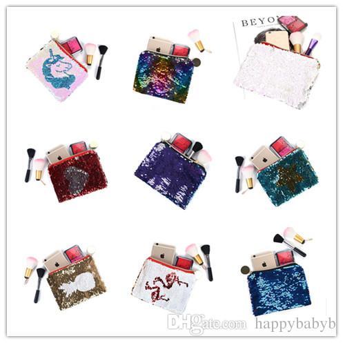 New Arrival Fashion Bags Women Mermaid Makeup Bag Glitter Reversible ... a1f12cfabf43