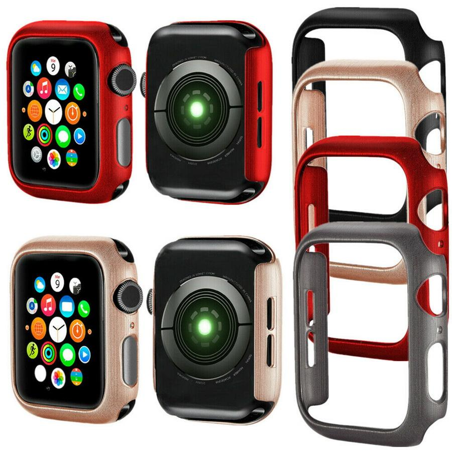 hot sale online c82fd 1723d For Apple Watch 38/40/42/44 mm Bumper Case Snap-On Cover PC Rugged  Protective for Apple Watch Series 4 3 2 1