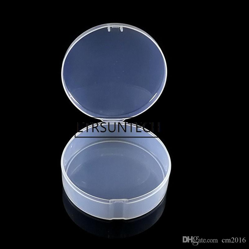 510pcs Jar Mini Sample Bottle Sealing Up Pot Face Cream Puff Container Portable Round Transparent Small Jewelry Storage Box