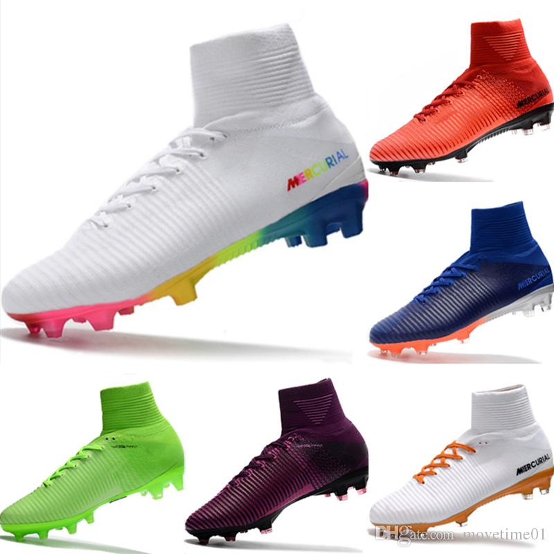 huge discount e5063 505d0 With Box 2019 Mercurial CR7 Superfly FG Kids Football Boots Magista Obra 2  Youth Soccer Cleats Cristiano Ronaldo