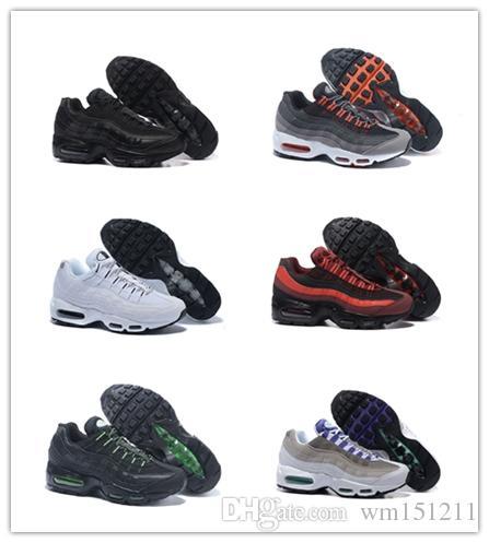 barato 95 95s Hombres Zapatillas de deporte Triple Blanco Negro Uva Solar Rojo Neón Entrenador calzado deportivo Deportes al aire libre Jogging casual