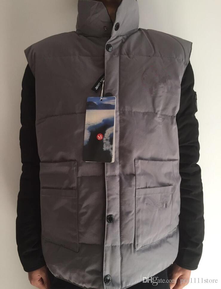 8444e68c9b3 2019 men's Canada Christmas gift winter Outdoor warm goose down vest jacket  cotton vests Outerwear Coats best quality