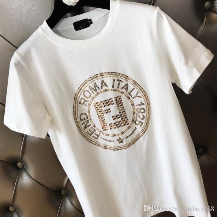 cozy fresh 0080d 9d703 T-shirt estiva da uomo 2019 New Paris T-shirt maniche corte T-shirt da  donna trapuntata con chiodo