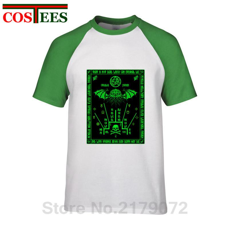 Call Of Cthulhu T Shirts Fluorescent green Cthulhu Schema Azhmodai 2019 T-shirt Harajuku brand Clothes Monster Octopus Tops Tees
