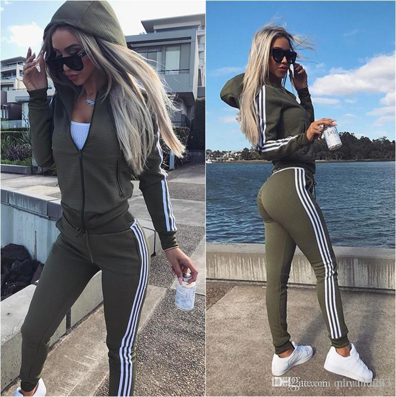 b92ac506106 2019 New 2019 Women Set Ladies Tracksuit Crop Tops Hoodies Sweatshirt Pants Sets  Lady Leisure Wear Casual Suit Plus Size High Quality New From Plm112233, ...