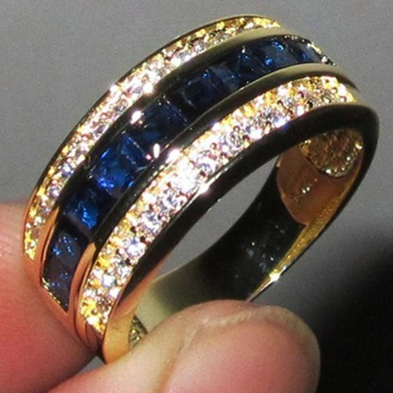 Chenrui Diamants Bagues En Acheter Saphir À Carrés Vend Des Wish QtxBshrdC
