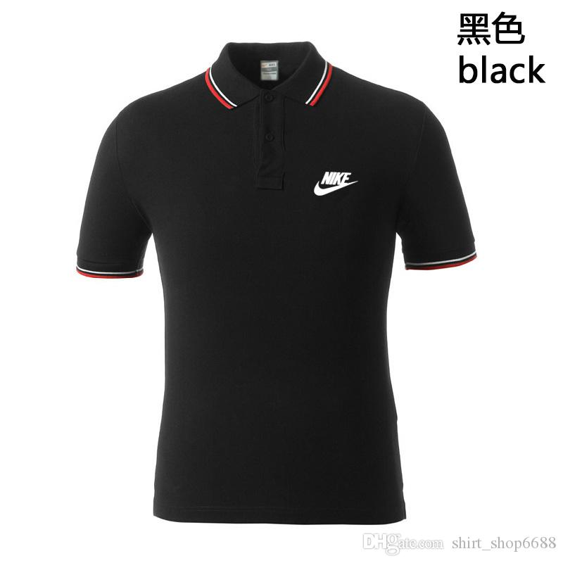 bdbbc6efe46c 2019 Hot NIKE Poloshirt Solid Polo Shirt Men Luxury Polo Shirts Short  Sleeve Men S Basic Top Cotton Polos For Boys Brand Designer Polo Homme From  ...