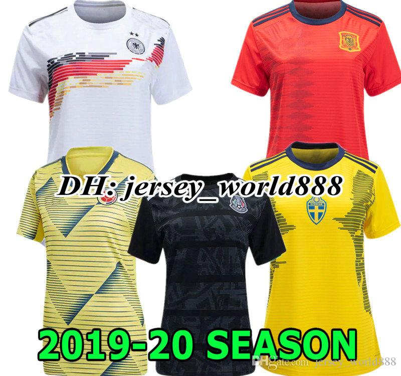 e6cd80f5144 2019 BRAZILSL GERMANYL Colombia 2019 World Cup Women Mexico Away Soccer Jersey  Home Sweden 2020 Spain Argentina 19 20 Football Shirt From Jersey world888