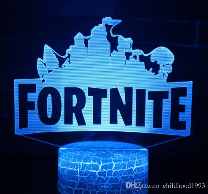 3d Fortnite Lamp Optical Night Light 7 Color Lights Dc 5v Usb Powered With Touch Switch Wholesale