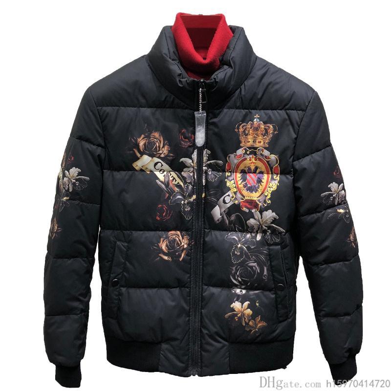 timeless design efbae 87d5f Winter New Fashion Mens Designer Jacken Dicke Kurze Daunenjacke Crown  Luxusjacke Plus Größe M-3XL