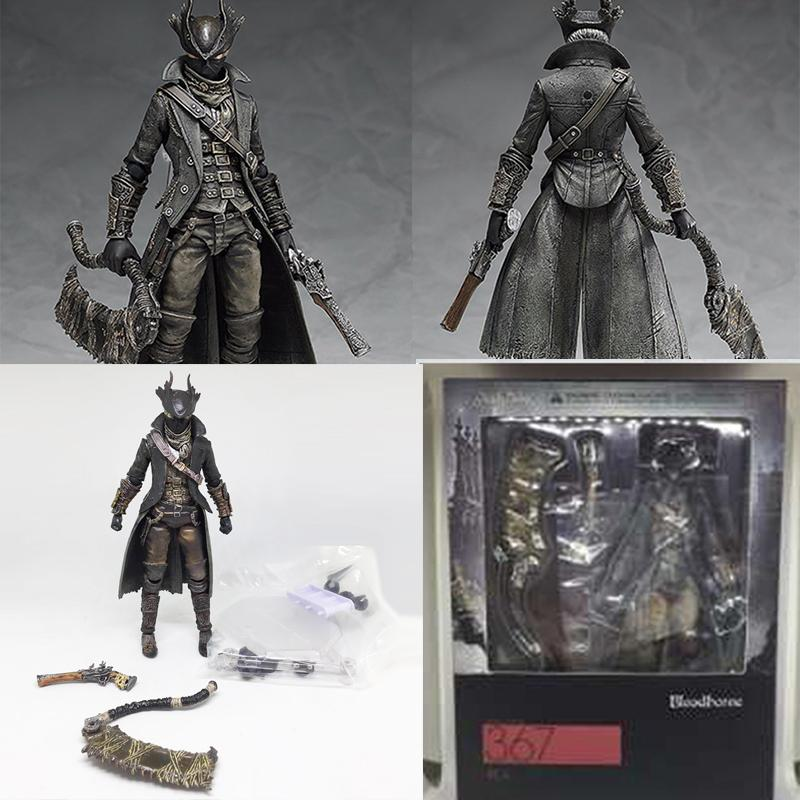 Game Figma 367 Bloodborne Hunter Action Figure Toy Doll Christmas Gift 15cm