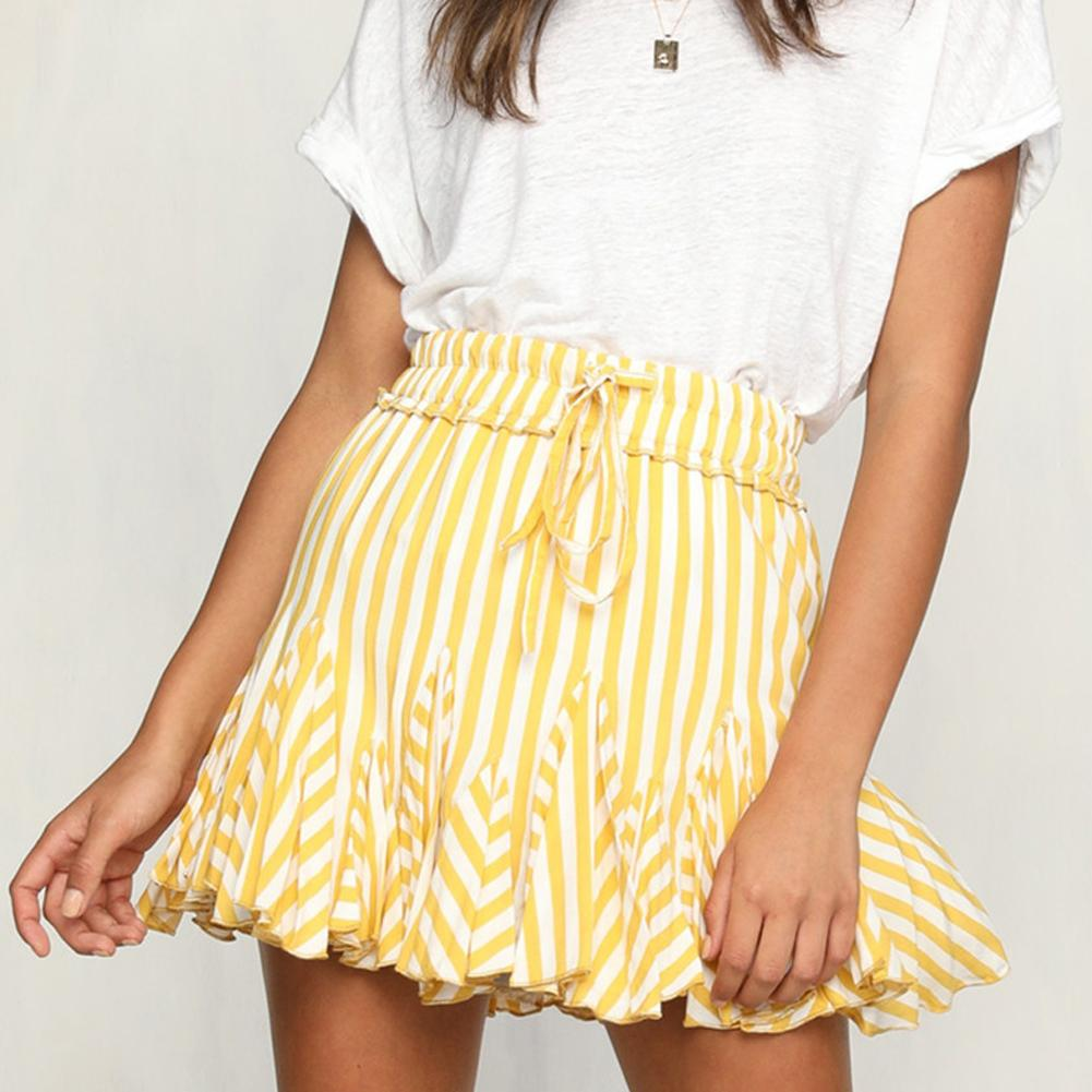 dd7e23bd0 2019 New Women Summer Sweet Striped Bubble Skirt Splicing All Beach Mini  Skirt From Manteau, $24.26 | DHgate.Com