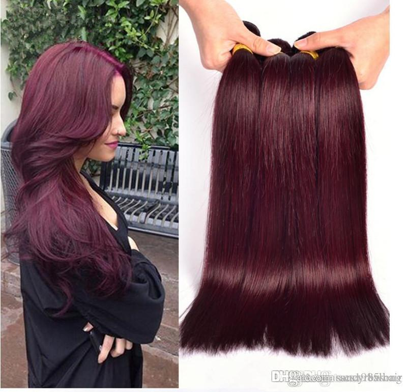 DHL Fedex Free 3pcs/lot 100g/piece CE certificated malaysian virgin remy color 99J human hair weaving