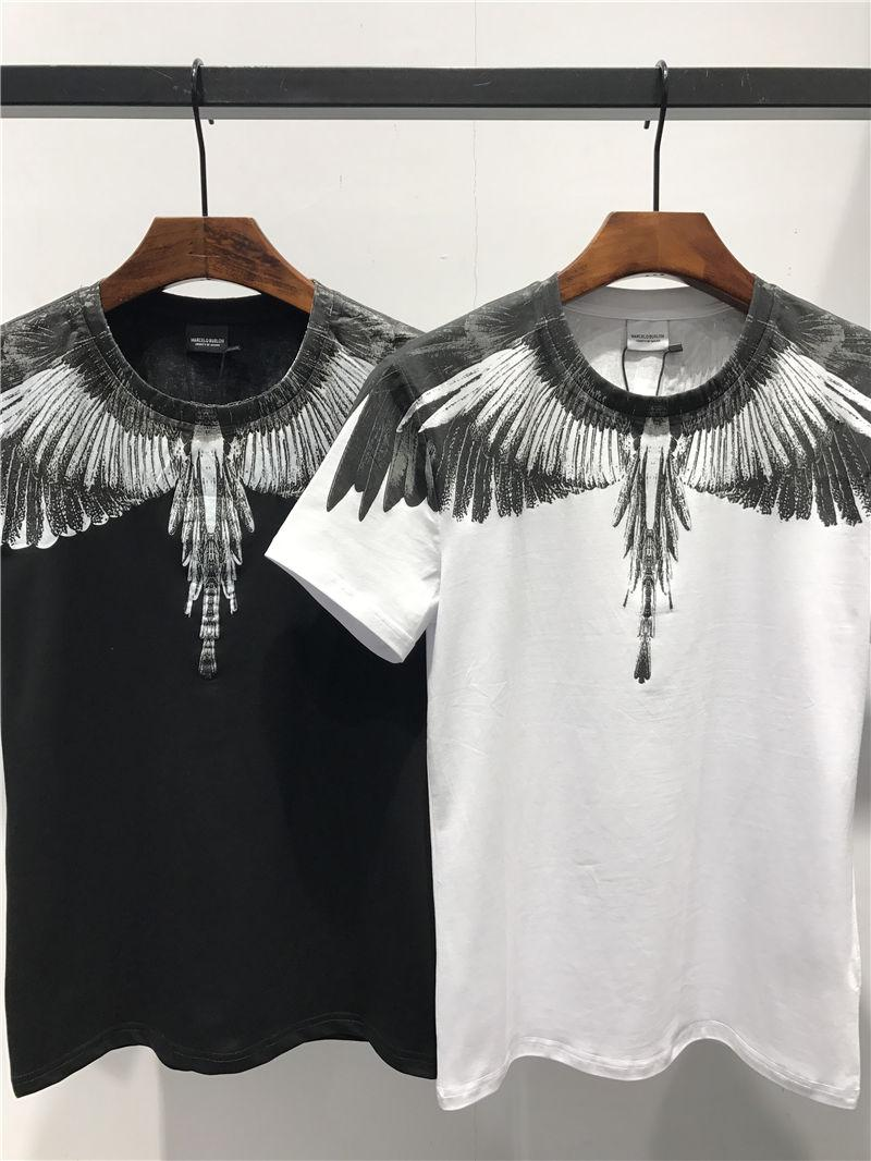2019 Summer New Arrival Top Quality Marcelo Burlon Men's Clothing Designer T-Shirts MB Print Fashion Tees Size M-3XL M161