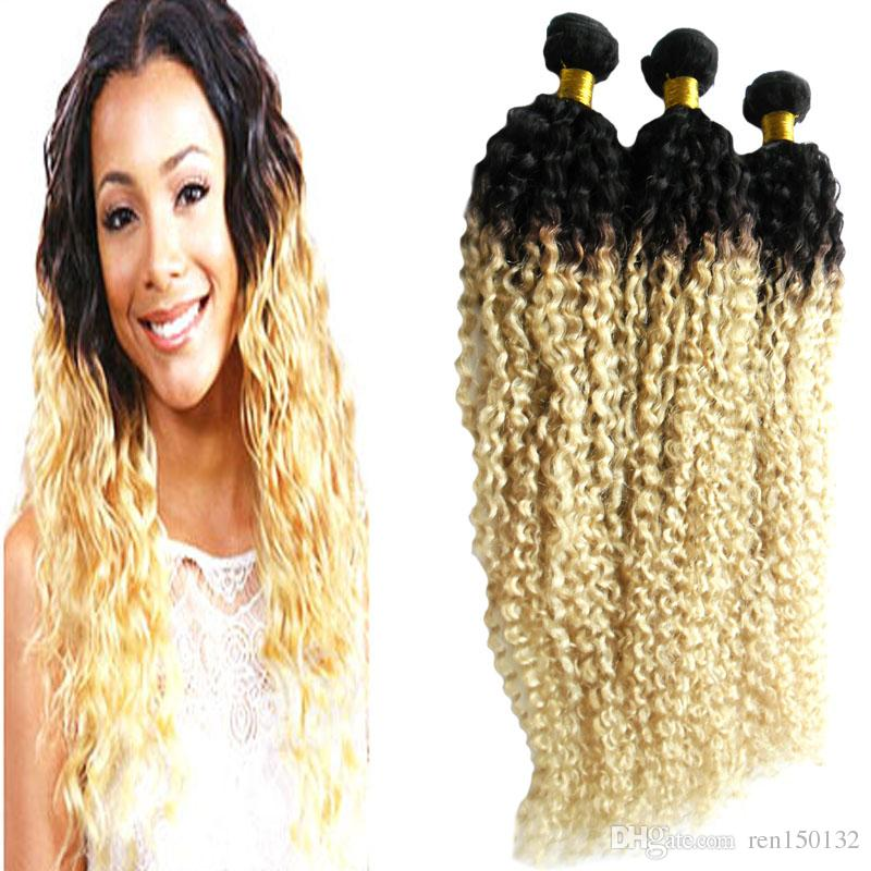 Kinky Curly Coily Brazilian Hair Weave Bundles Remy Human Hair Extensions 3 Bundles Double Machine Weft 100% Remy Human Hair Weave
