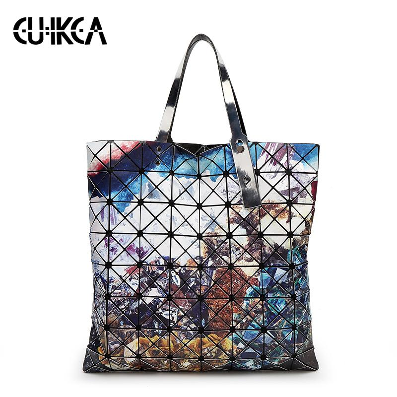 2019 Fashion Women Diamond Bao Bags Geometry Matte Handbag Female Geometric Casual Tote Lady Shoulder Bag Handle Bag