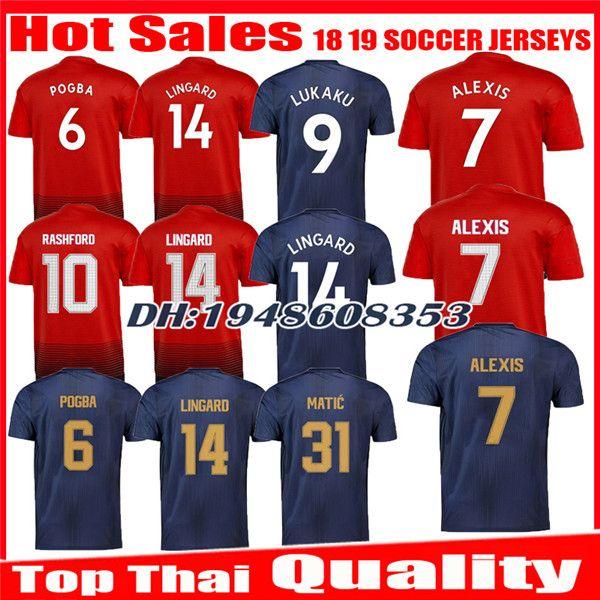 6d80e2398 2019 2018 2019 Soccer Jersey ALEXIS Sanchez 3rd 1819 Ibrahimovic MARTIAL  LUKAKU POGBA RASHFORD ANDER HERRERA United Third Jerseys Football Shirts  From ...