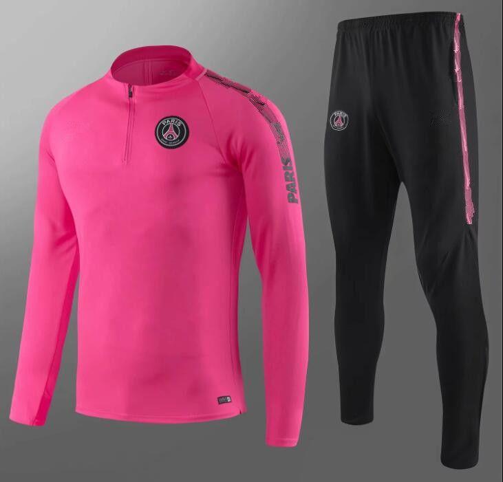 promo code 846ba a4648 top quality 2018 PSG soccer training suit long sleeve MBAPPE CAVANI Jerseys  17 18 19 maillot de foot paris football jacket tracksuit set