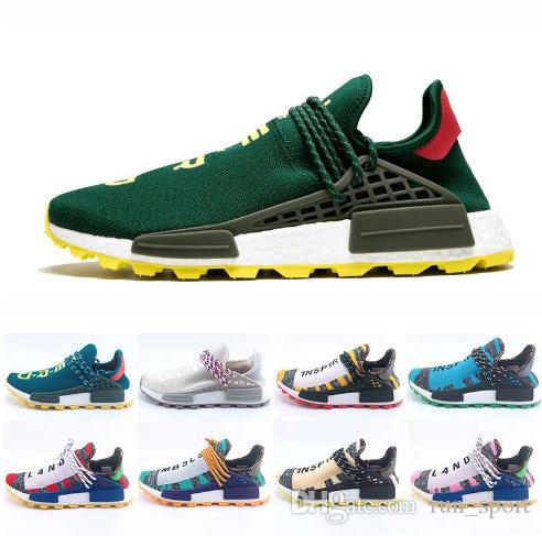 7c8b09cb6 Green Nerd Heart Mind Human Race Running Shoes Homecoming Solar PacK Pharrell  Williams Hu Trail Trainers Men Women Runner Sports Sneakers Womens Trail ...