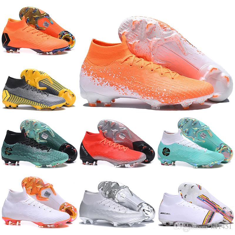 outlet store 21496 b2642 Kids Football Boots LVL UP Superfly 6 Elite FG Soccer Shoes Youth CR7  Mercurial Superfly VI 360 Neymar NJR Mens Womens Soccer Cleats