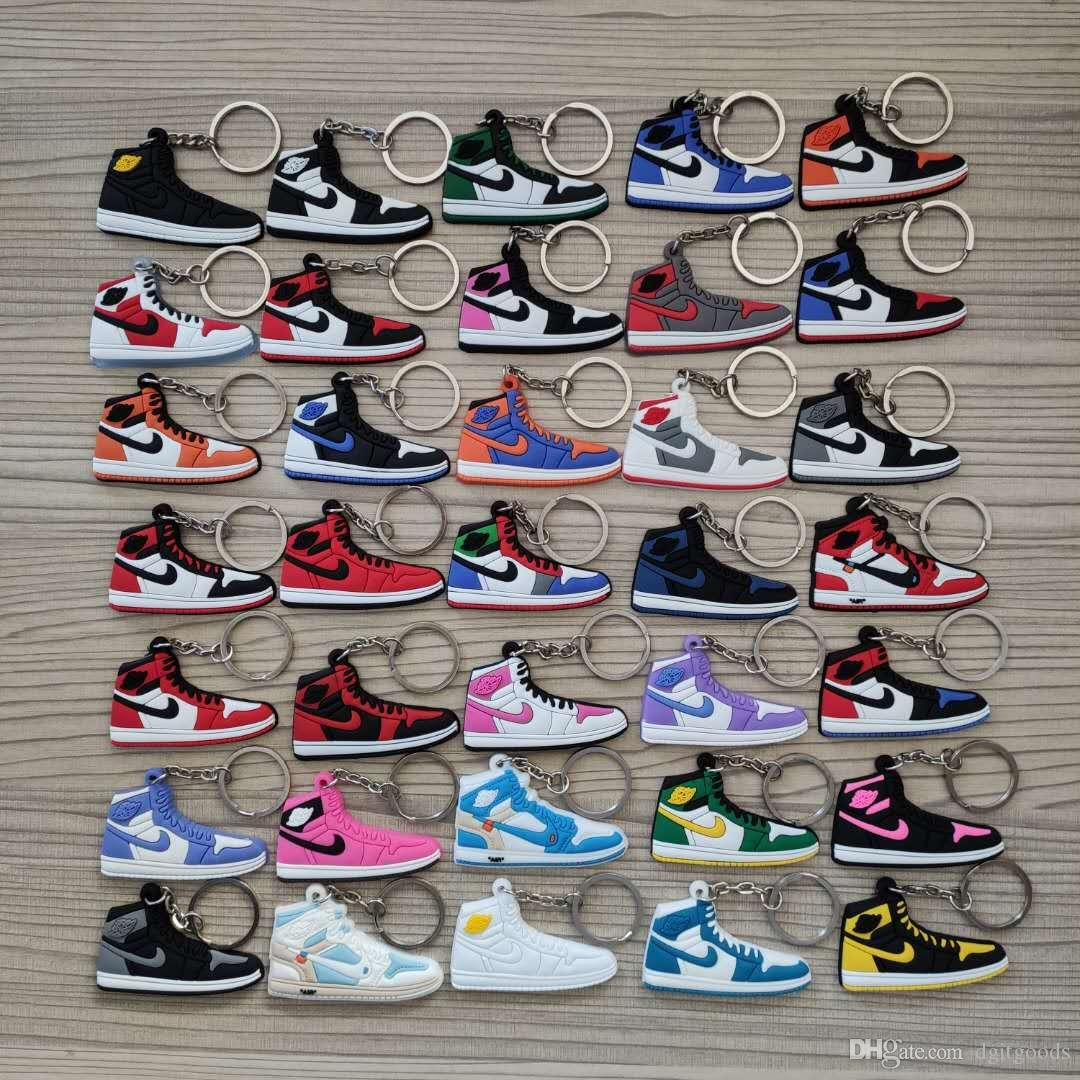 Sneaker Shoes Keychains Joint Co-branded Sports Key Chains Concessions Accessories For Bags Cell Phone Straps Backpack 38 styles