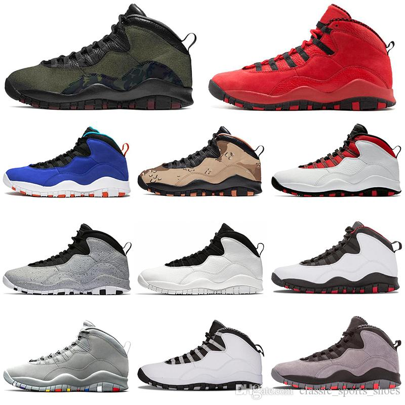 low priced db4d5 f86b8 2019 AirJordanRetro 10 10s Westbrook Men Basketball Woodland Camo Tinker  Steve Wiebe Shoes designer mens trainers sports sneakers
