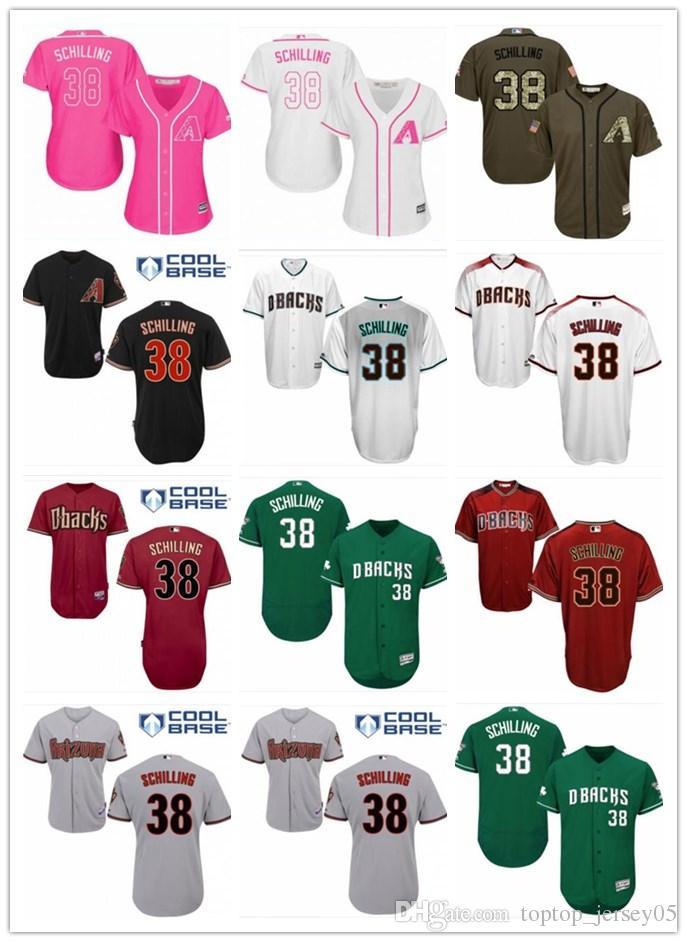 buy online 13831 cb9b8 2018 top Arizona Diamondbacks Jerseys #38 Schilling Jerseys  men#WOMEN#YOUTH#Men's Baseball Jersey Majestic Stitched Professional  sportswear