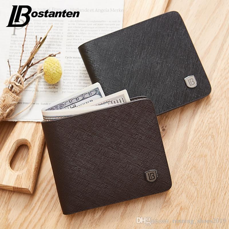 ed53d94c317 Bostanten Men Wallet Short Wallets Bifold Business Wallet Mens Brand  Leather Card Holder Money Cash Purses Pockets  124960 Handmade Wallets  Purse Wallet ...