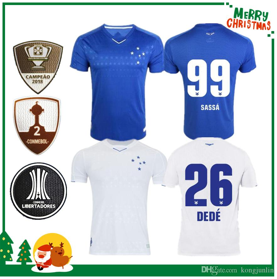 54568a3e181ab Camiseta De Fútbol CRUZEIRO 2019 19 20 Brasil DE ARRASCAETA FRED ROBINHO  THIAGO NEVES Camiseta De Fútbol Cruzeiro Local Brasil Club Camisas Por  Kongjunlin