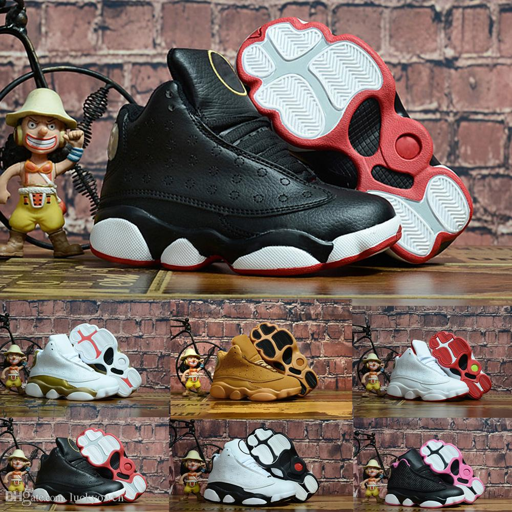 official photos 1efeb 7d634 2018 Kids 13 13s basketball shoes Chicago He got game Bred altitude DMP  boys girls sneakers children baby sports shoes size 11C-3Y