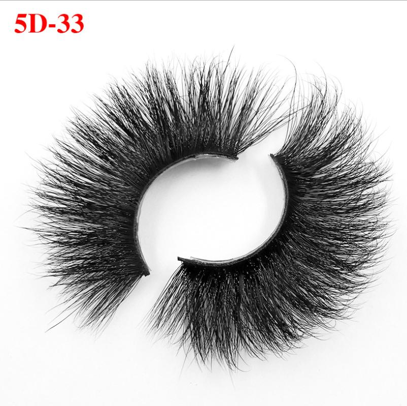 25mm 5d Mink Eyelashes Thick HandMade Full Strip Lashes Luxury Makeup Dramatic Lashes 5D Mink