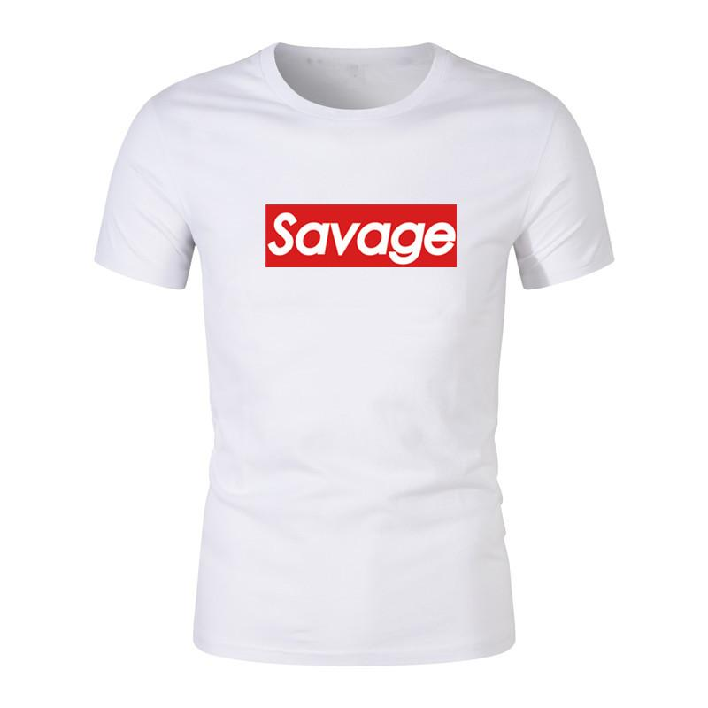 2019 Brand New Savage t-Shirt men tops tees Top quality cotton short sleeves Casual t shirts men clothing