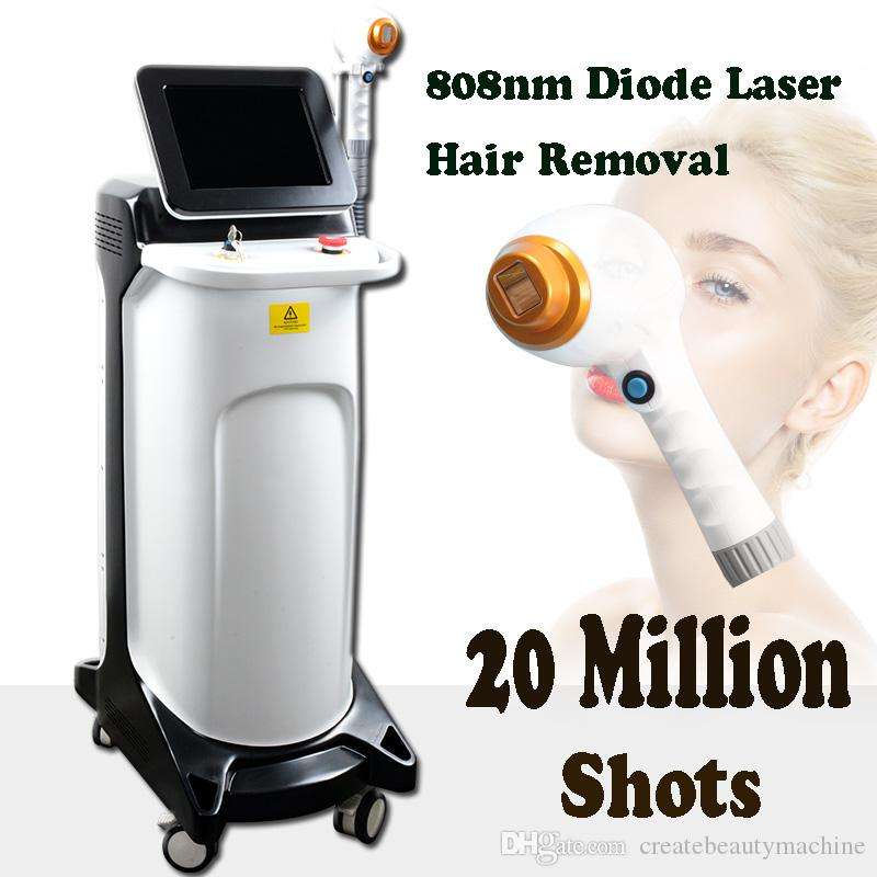 Best laser hair treatment Diode Laser Machine salon home use 808 nm  permanent hair removal treatment more than 20 million shots