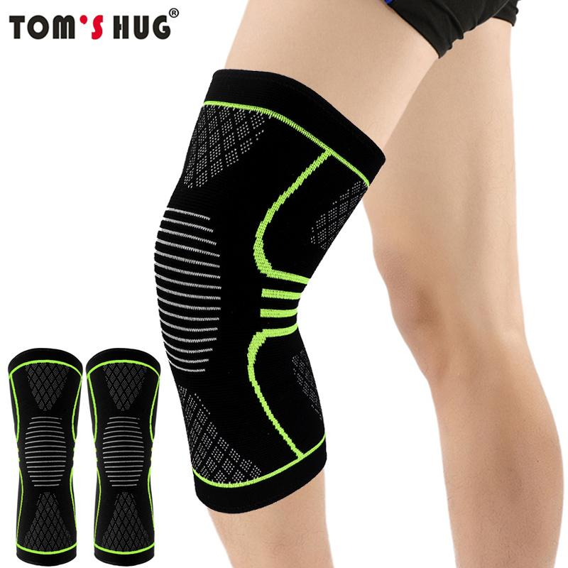 a408228d93 1 Pcs Knee Sleeve Support Protector Sport Kneepad Tom's Hug Brand Fitness  Running Cycling Braces High Elastic Gym Knee Pad Warm