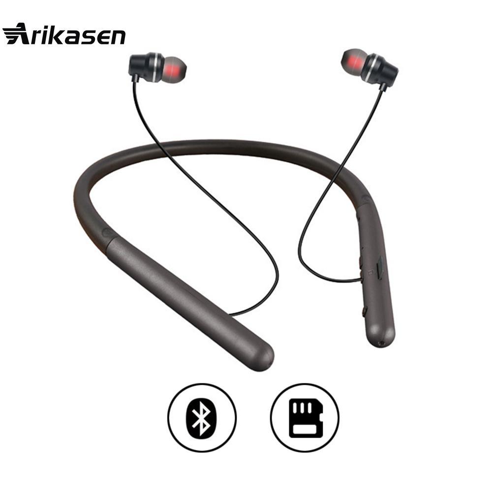 Acquista Arikasen Lettore MP3 Stereo Nuovo Cuffie Bluetooth IPX5 Cuffie  Auricolari Impermeabili Senza Fili Lo Sport MIC Cardiama Del Telefono Del  Telefono ... 24733b273397