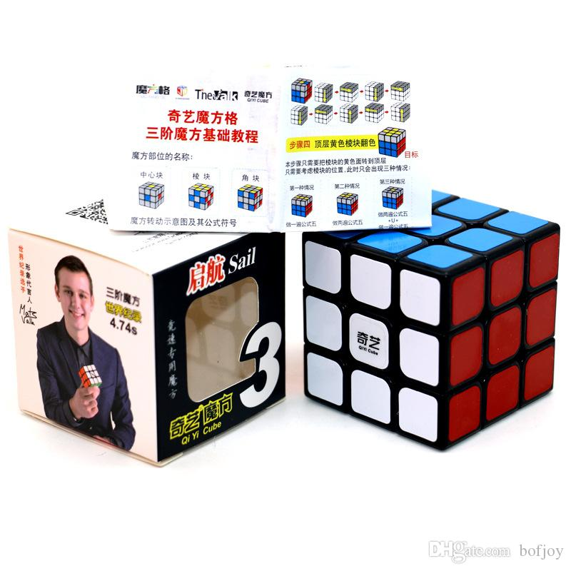 1pcs Professional Cube 3x3x3 5.7CM Speed For Magic cube antistress puzzle Neo Cubo Magico Sticker For Children adult kids toys