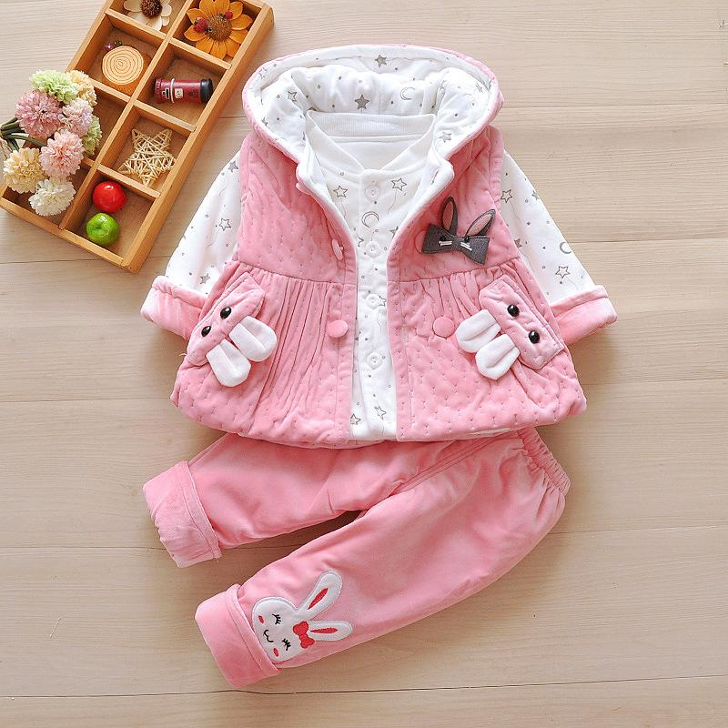 5-month-old baby's spring dress, thin cotton long sleeve suit, girl's spring and autumn dress, newborn clothes, baby's cotton jacket three-p