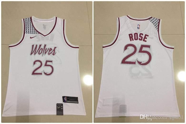 premium selection c11dd a0d42 Men Minnesota New Season Timberwolves Jersey Derrick Rose Reward Edition  Baketball Jerseys - White