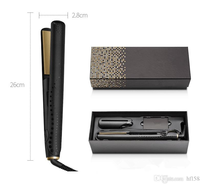 V Gold Max Hair Straightener Classic Professional styler Fast Hair Straighteners Tourmaline ceramic Hair Styling tool Good Quality