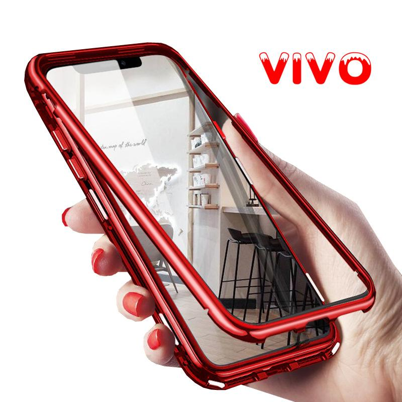 online store 3fffa 6b12a Magnetic Flip Case For VIVO Y95 Case Glass Back Cover Shockproof Cover For  vivo V15pro/V11/Y17