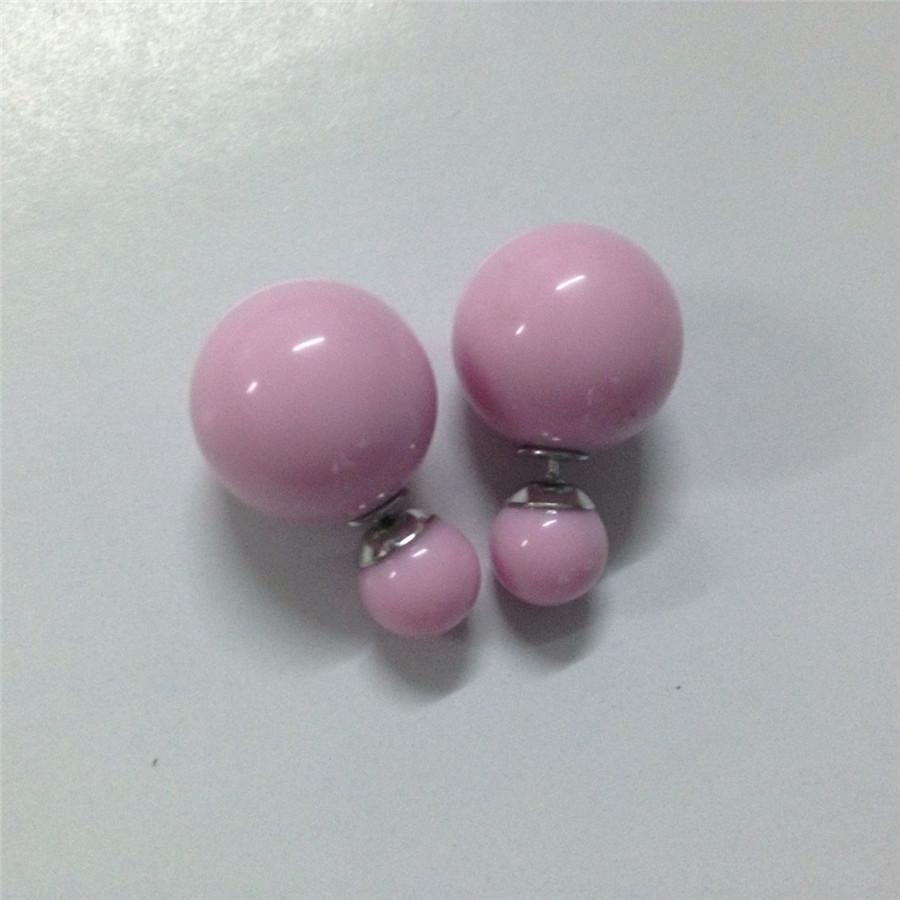 Precio de fábrica Ventas es moda perla simulada dulce piercing pendientes de perno prisionero de la boda 2 tamaños brincos perle