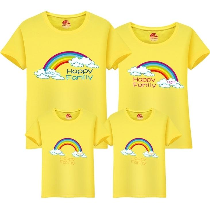 00129206a Family T Shirt Mom Dad Daughters Children 2019 New Cute O Neck T Shirt  Family Cartoon Cotton Tops Matching Mother Clothing Fy052 Mother And Baby  Matching ...