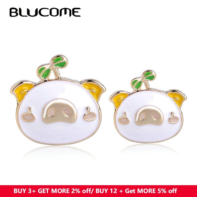 a5c49bb8046 2019 Lucome Fashion Cute Pig Shape Brooches Badge White Enamel Gold Color Jewelry  Pins Accessories Hat Bag Decoration Girl Boy Gifts Blucome F..