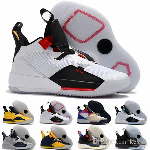 super popular bd6e3 20bb2 Acquista 2019 New Jordan Jumpman Retro XXXIII 33 Scarpe Da Basket Uomo Di  Alta Qualità 33s Multicolor Tech Pack Scarpe Da Ginnastica Guo Ailun  Sneakers ...