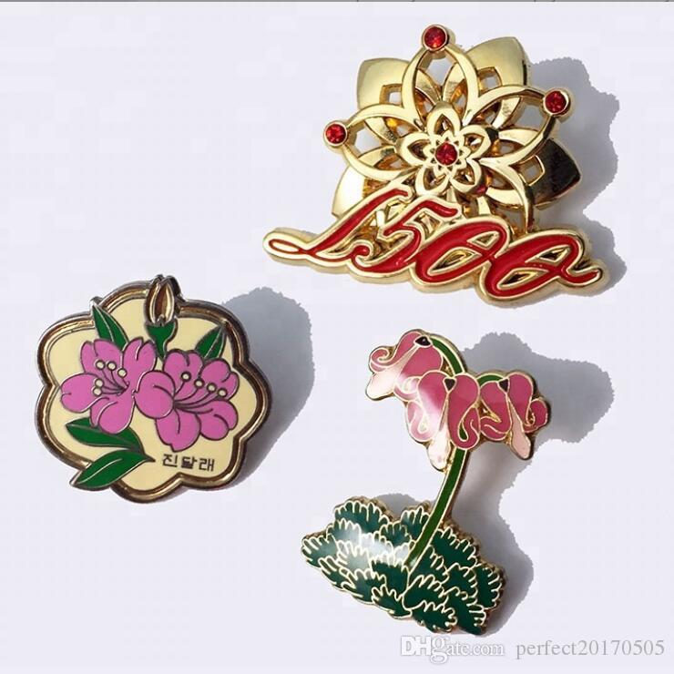 Factory Making School Collar Hard Soft Metal Custom Enamel Pin Badge Custom  poppy pin badge army raf navy/poppy lapel badge/poppy pin badge