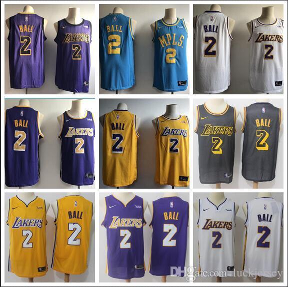 info for 09342 85467 Men's LA LeBron City 23 James 2 Ball White Purple Gold 18/19 Swingman  Jersey - Icon Editio