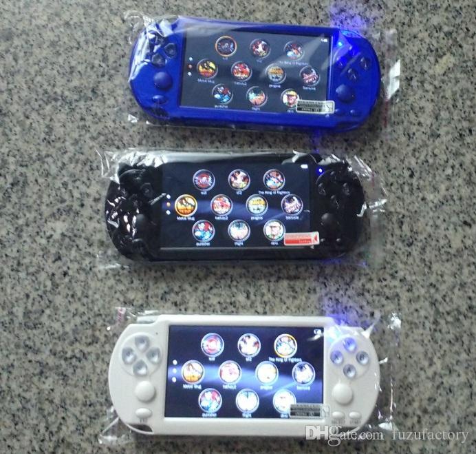NUEVA PMP X9S electrónico de bolsillo consola de juegos de pantalla 5.1inch Quad Core 8 GB PSP jugadores de juegos portátiles TV de apoyo fuera de la cámara MP5 MP4 MP3 WMA WAV