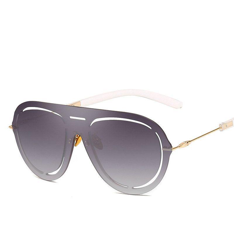 c1285d2dbec Oversized Round Sunglasses Women Men Vintage Big Luxury Punk Sun Glasses  Retro Festival Eyewear Futuristic Oversize Goggle NX Baseball Sunglasses  John ...