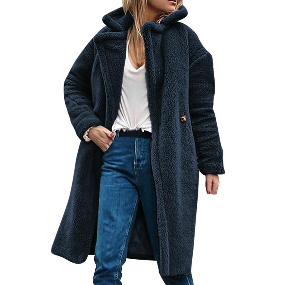 7a01e27d4708 Acheter Femme Manteau Pardessus Outercoat Femmes Hiver Casual Chaud Parka  Veste Solide Outwear Automne Hiver Parka Cachemire Casual Veste De  39.47  Du ...